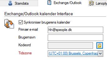 Enable Exchange Sync on User