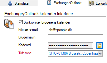 Enable Exchange Sync for User